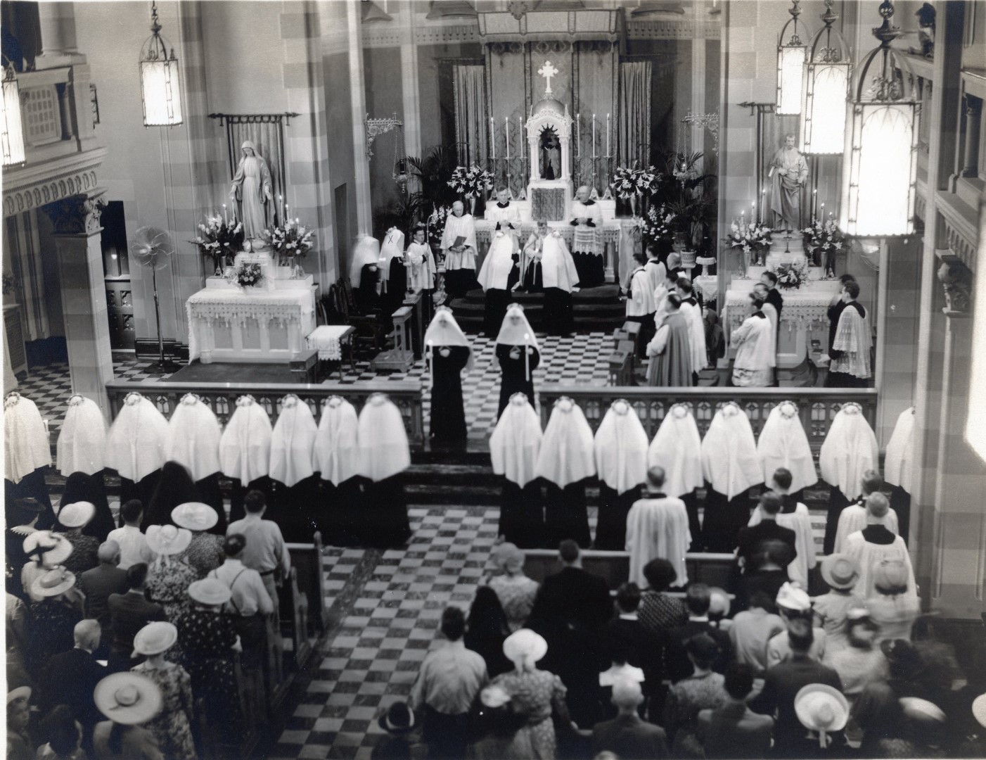 SSND reception ceremony, St. Louis 1941